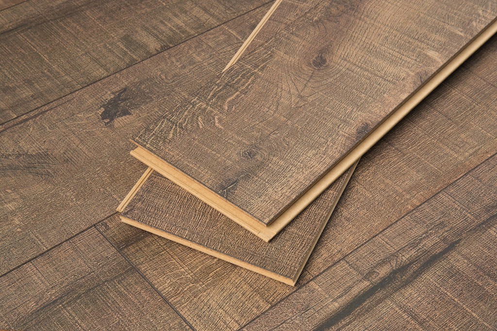 Engineered Cork Flooring Planks In Driftwood by Cali Bamboo, Sample