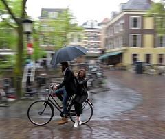utrecht (gerben more) Tags: umbrella bike people netherlands nederland streetscene streetlife street utrecht