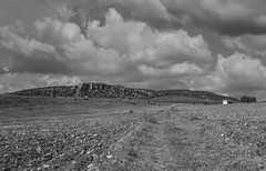 Maar de Hoya de Cervera (Miguel Angel Prieto Ciudad) Tags: maar volcanic geology nature landscape paisaje clouds ciudadreal bnw lamancha spain campodecalatrava sonyalpha alpha3000 mirrorless black white blancoynegro monochrome