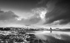 Tewet cold morning mono (Alf Branch) Tags: mono mountains blencathra tewettarn tarn water cumbria clouds cumbrialakedistrict calmwater winter morning alfbranch snow landscape lakes lakedistrict lakesdistrict olympus omd olympusomdem5mkii leicadg818mmf284