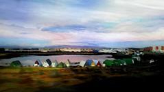 From Iceland. (Tóta. 27.12.1964.) Tags: watercolor houses water sky hafnarfjörður iceland ísland