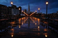 In Between Storms (Andrew Louie Photography) Tags: andrew san francisco storm blue hour cityscape transamerica pier 7 louie photography rain wet cold winter weekend coffee jazz bay area california west coast