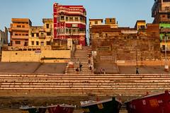 Varanasi, India (Ninara) Tags: varanasi india uttarpradesh ghat ganges ganga gangaaarti sadhu nagasadhu sunrise morning bathing holycity mansarovarghat mansarovar manasarovar kashi benares