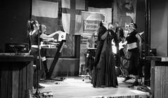 Event Horizon March 2019 040 (byronv2) Tags: music musician woman women makeup stage band krow krowandtheelectrictemple goth gothic punk electro blackandwhite blackwhite bw monochrome dance shorelineofinfinity eventhorizon edinburgh edimbourg scotland frankensteins georgeivbridge