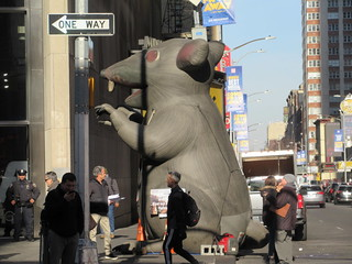 2019 Giant Strike Rat Balloon Corner of 45th St NYC 3839