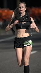 Blonde - Dressed In Black (Scott 97006) Tags: woman female lady blonde athlete race run running runner shorts muscles pretty cute