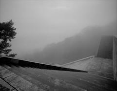 Walhalla (Vitaly_S) Tags: 120 2009 67 674545 delta100 mf nebel p67ii pentax67 walhalla winter xtol11 пленка architecture film fog mediumformat вальгалла германия архитектура зима туман