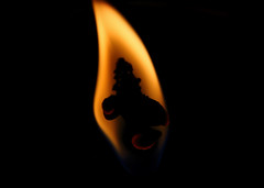 """The man in the flame (Millie Cruz """"On and Off"""") Tags: macromondays face candle flame man shape silhouette hotorcold canoneosrebelt6i ef100mmf28lmacroisusm hot fire"""