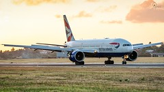 British Airways | G-VIIK | Boeing 777-236ER | BGI (Terris Scott Photography) Tags: aircraft airplane aviation plane spotting nikon d750 tamron 70200mm f28 di vc usd g2 travel barbados jet jetliner british airways 777 200 london grass sunset