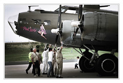 Fear from another age (orichier) Tags: france lorraine meeting plane b17 bomber flying fortress world war ii wwii memory men mechanic child