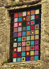 Another Blarney Castle Window (annewilson12) Tags: window blarney castle crochet yarnbombing ireland travel travelphotography nikond5500