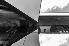 phylarmonie abstract (Rudy Pilarski) Tags: abstract architecture abstrait architectura nikon nb bw bâtiment building monochrome moderne modern minimalisme minimal forme france form francia europe europa city ciudad capitale reflection reflet ciel sky cloud nuage