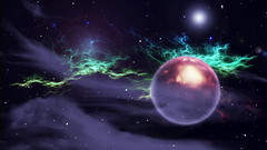 Space Comp_1 (luceymark) Tags: green space planet nebula galaxy background star fantasy science illustration alien sky abstract graphic light universe outer system astronomy celestial fiction blue design moon