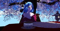 Miriabelle (Zumipop) Tags: secondlifephotography cuteanimegirl bluehair horns oni elven elfears paleskin breasts