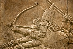 Assyrian art at the British Museum (archidave) Tags: london british museum britishmuseum assyrian sculpture statue relief lion hunt