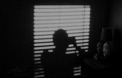 Shadow Selfie - Film Leica (Photo Alan) Tags: vancouver selfie film blackwhite blackandwhite dark leica leicamp filmcamera filmscan filmleica monochrome