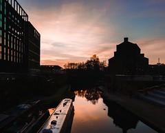IMG_1110240 (Kathi Huidobro) Tags: londonskyline reflections naturallight citylife cityscape landscape nature sunset canal silhouette london regent'scanal architecture
