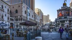 Morning At The Venetian Plaza_01 (brucekester@sbcglobal.net) Tags: lasvegasstrip lasvegas thevenetian venetianplaza bouchonbakery earlymorning
