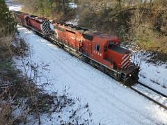 CPR Castlegar Wye December 2013 (arrowlakelass) Tags: castlegar canada cpr train freight bc boxcars railway rail p1150747