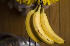 That's Just Bananas! (aaron_gould) Tags: banana fruit nikkor iso light bokeh yellow bruised inside 50mm peel home art d7000