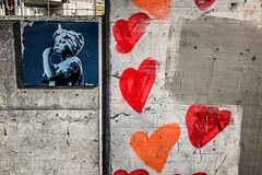Power (Melissa Maples) Tags: basel switzerland europe apple iphone iphonex cameraphone autumn graffiti streetart art woman orange red hearts