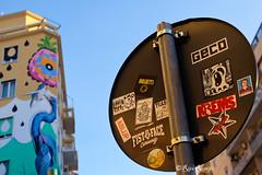 Roma. Ostiense. Sticker art by Borghetta, Merioone, HnRx, Mr.Minimal, Ablup, Fist2Face, WeGo, Geco, 5toker, Jesus tifa Toro, Krems and... with Iena Cruz mural (R come Rit@) Tags: italia italy roma rome ritarestifo photography streetphotography urbanexploration exploration urbex streetart arte art arteurbana streetartphotography urbanart urban urbanculture graffiti graff graffitiart artwork contemporaryart artecontemporanea artedistrada underground wall walls wallart muro muri streetartroma streetartrome graffitiroma graffitirome urbanartroma streetartitaly italystreetart romestreetart romastreetart romegraffiti romeurbanart ostiense ienacruz huntingpollution mural muralart sticker stickers stickerart stickerbomb stickervandal slapart label labels adesivi slaps signscommunication roadsign segnalistradali signposts trafficsignals borghetta merioone hnrx mrminimal ablup fist2face wego geco5tokerjesus tifa toro krems