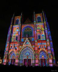 Cathédrale en couleurs (II) (HimalAnda) Tags: nantes france paysdelaloire 44 cathédrale cathedral couleurs colors lumières lights nuit night stéphanebon canoneos70d eos70d architecture