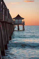 Naples Pier (isabellamcd99) Tags: pier water ocean gulf boat sunset warm beauty beach sand