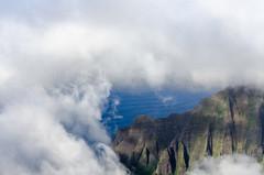 Cliffs through the clouds (rao.anirudh) Tags: hawaii kauai
