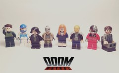 DOOM PATROL (Read Desc) (Onomatopoeia54) Tags: villain superhero superheroes display portrait face man robot cyborg minifigures custom legos art comics dc doompatrol patrol doom lego