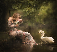 In the swan lake (But Natural Photography) Tags: naturallight photoshop lightroom motherhood newborn newbornphotography outdoor green nature