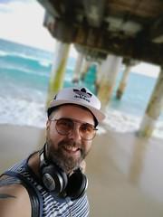 Lake Worth Pier Selfie (Toni Kaarttinen) Tags: usa unitedstates florida wpb america lakeworth lw palmbeachcounty man guy beard bear selfie hairy scruff beach lakeworthbeach pier lakeworthpier