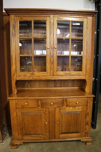 Nice Tom Seely Oak 2-piece Stepaback Cupboard ($392.00)