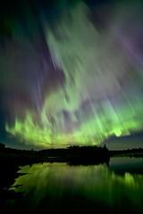 Get Serious aurora (John Andersen (JPAndersen images)) Tags: alberta aurora canon madden night spring