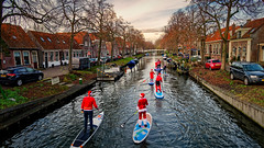 A Christmas Paddling, Merry Christmas To You All! (Alfred Grupstra) Tags: canal people netherlands river urbanscene architecture street outdoors water house buildingexterior city travel tourism builtstructure famousplace tourist europe paddling santa 967
