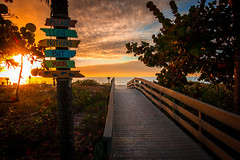 Sunset at Indian Rocks Beach (dannygreyton) Tags: clearwater sunset beach sign usa florida largo bridge ocean sea