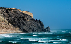 Beauty of the Algarve 2 (Gene Mordaunt) Tags: portugal algarve luz ocean water cliff tide surf nikon810 sea sky