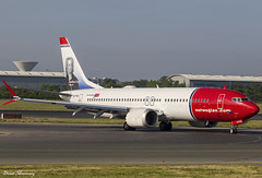 Norwegian (Jonathan Swift) 737 MAX 8 EI-FYC (birrlad) Tags: dublin dub international airport ireland aircraft aviation airplane airplanes airline airliner airlines airways arrival arriving landing landed taxi taxiway boeing b737 b38m 737 max 8 eifyc norwegian jonathanswift livery decals titles nortrans
