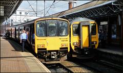 Deansgate Departures (R~P~M) Tags: train railway diesel dmu sprinter multipleunit northern deansgate manchester greatermanchester england uk unitedkingdom greatbritain