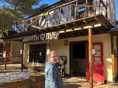 Bonnie Springs, Red Rock Canyon (jericl cat) Tags: shooting gallery shootn closed broken cowboy showgirl animatronic darin bonnie springs ranch redrock canyon desert oldnevada attraction roadside park theme red rock western land