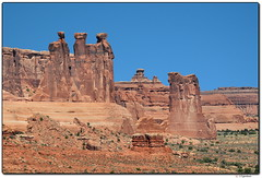 La Sal Mountain Viewpoint (our cultural archives) Tags: archesnationalpark moab utah arches sandstone standstonetowers threesisters threegossips threekings towerofbabel courthousetowers coloradoplateau landscape geology sandstonesculptures scenicfeatures