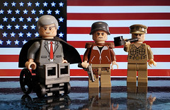 American Leaders (brickhistorian) Tags: brick bricks custom customs commander europe lego legos fig figbarf general fighter history photo minifig minifigure moc military war world wars ww2 wwii america american president macarthur patton roosevelt