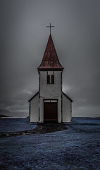 Hellnar (Andrew Gibson.) Tags: hellnar iceland moody rainy sonya7ii sonyilce7m2 stormy volcano windy chappel church westiceland wet