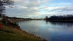 Reflections, River Dee, Aberdeen, Feb 2019 (allanmaciver) Tags: reflections river dee aberdeen north east scotland clouds weather blue sky shades shadows banks low view allanmaciver