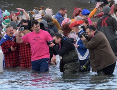 Loony Dook South Queensferry 2019 (Gerry Hill) Tags: loony dook south queensferry edinburgh bridges river forth cold freezing 2019 first january new year rnli wet celebrations mad charity fancy dress scottish uk scotland dip costumes hogmanay bathers nikon 5600