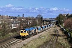 66778 Archer Rd Sheffield 11 Mar 19 (doughnut14) Tags: rail freight diesel loco gbrf 6m83 tinsley bardon quarry stone shed class66 archerrd sheffield cum heeley buttermere ewings sarcoma darius cheskin