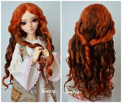"Wig for MNF ""Gerloc"" (sonya_wig) Tags: fairytreewigs wig bjdwig minifeewig bjd bjdminifee minifeechloe handmade doll bjddoll dollphoto fairyland fairylandminifee minifee chloe bjdphotography coloringhair"