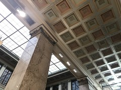 Interior, Central Library, Enoch Pratt Free Library (1933; Clyde N. Friz, architect), 400 Cathedral Street, Baltimore, MD 21201 (Baltimore Heritage) Tags: baltimore cathedralstreet enochprattfreelibrary franklinstreet interior library maryland mountvernon mulberrystreet