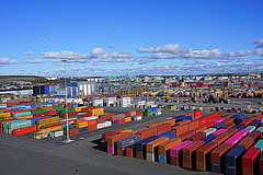 HSS - Busy Portlands (Toats Master) Tags: sweden gothenburg port shipping containers ocean