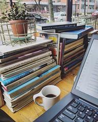 shutdown workspace (ekelly80) Tags: dc washingtondc winter january2019 thecoffeebar coffeeshop trumpshutdown shutdown view coffee windowseat books laptop